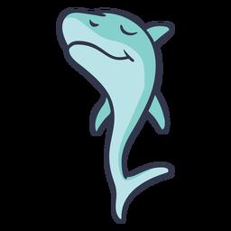 Shark jumping happy stroke flat
