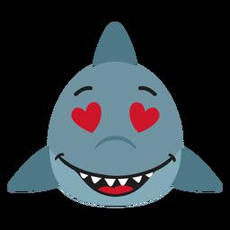 Bozal tiburón enamorado pegatina plana