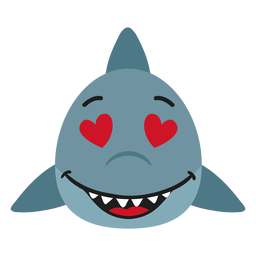Shark muzzle enamoured flat sticker