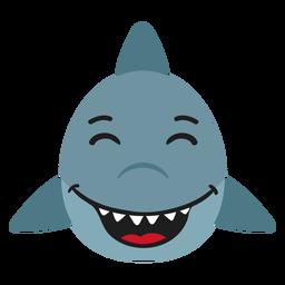 Bozal de tiburón feliz pegatina plana