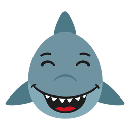 Shark muzzle happy flat sticker