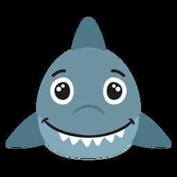 Bozal de tiburón pegatina plana alegre