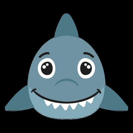 Shark muzzle joyful flat sticker Transparent PNG
