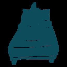 Tiburón durmiendo cama silueta detallada