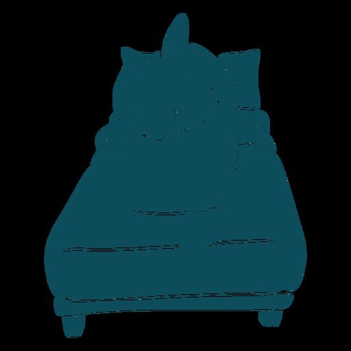 Silueta detallada de cama para dormir de tiburón