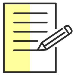Blatt Bleistift Flachstrich