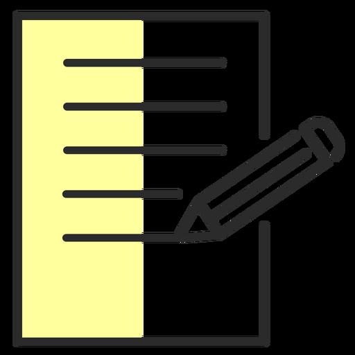 Hoja lápiz trazo plano Transparent PNG