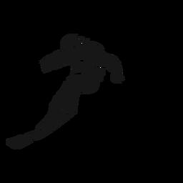 Silhueta detalhada de roupa desportista de esqui