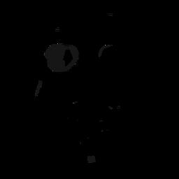 Ilustración de gafas de casco de calavera