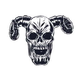 Skull horn illustration