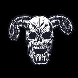 Skull horn illustration