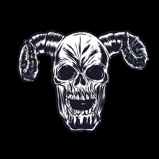 Skull horn illustration Transparent PNG