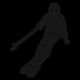 Silhueta detalhada de desportista roupa esqui