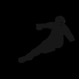 Silhueta detalhada de equipamento de esqui desportista