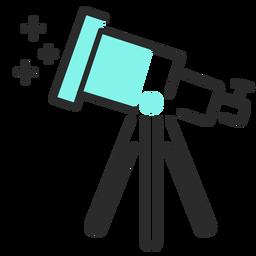 Curso plano do telescópio
