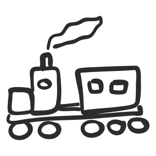 Doodle de tren Transparent PNG