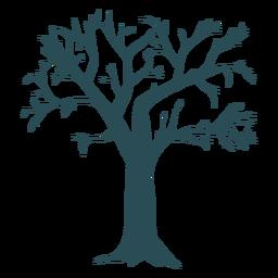 Silhueta detalhada de árvore