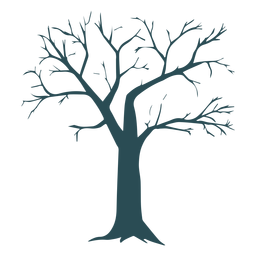 Tree detailed silhouette