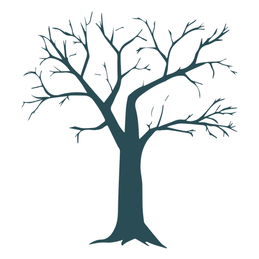 Tree detailed silhouette Transparent PNG