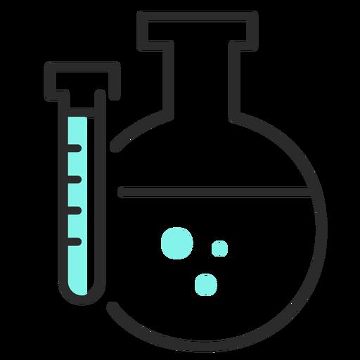 Flacher Hub der Röhrenretortenflüssigkeit Transparent PNG