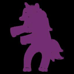 Baile de unicornio bailando silueta detallada