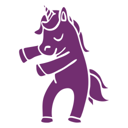 Unicorn dance dancing detailed silhouette