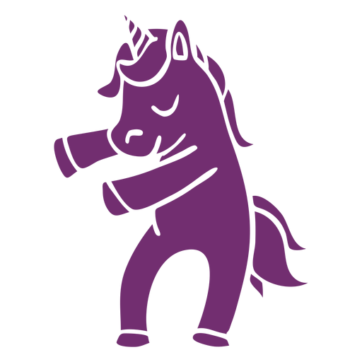 Unicorn dance dancing detailed silhouette Transparent PNG