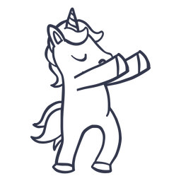 Unicorn dance dancing stroke