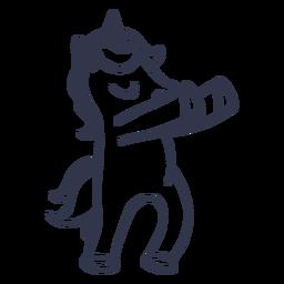 Unicornio baile baile trazo