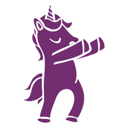 Unicorn dancing dance detailed silhouette