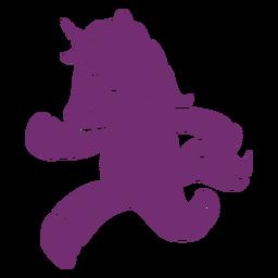Unicornio corriendo silueta detallada