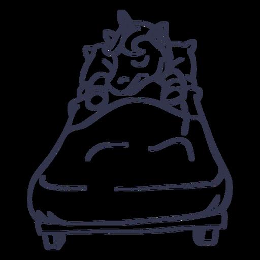 Golpe de cama para dormir de unicornio