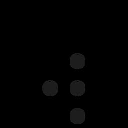 Traço de ponto de letra w w