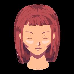 Frau Bob Gesicht Haar flach geschnitten