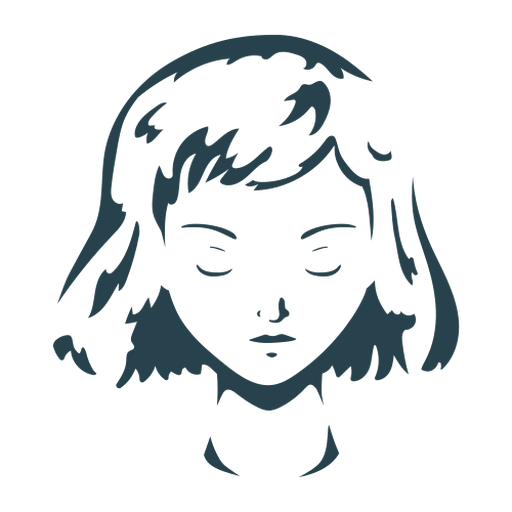 Woman face hair detailed silhouette Transparent PNG