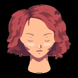 Mujer cara cabello corto plano