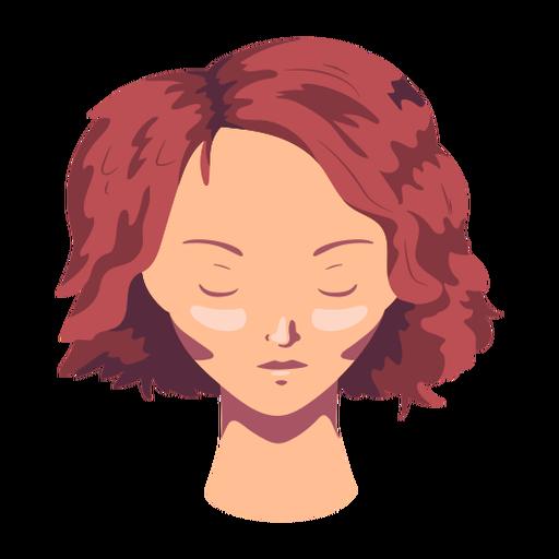 Woman face hair short flat Transparent PNG