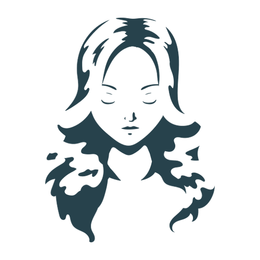 Woman hair face silhouette detailed Transparent PNG