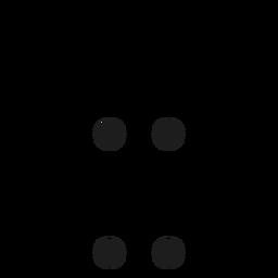 X x letter dot spot stroke