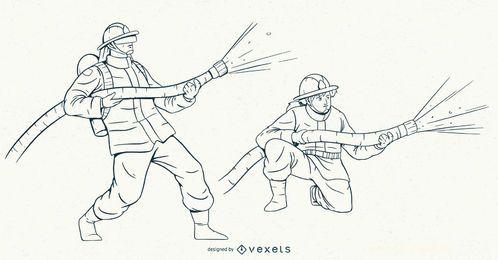Firemen Stroke Character Set