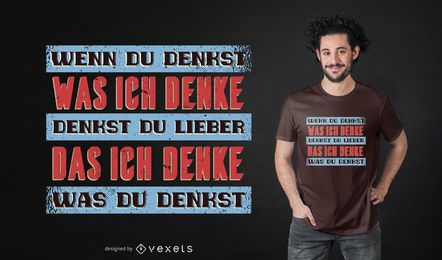 Vintage german quote t-shirt design
