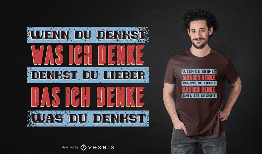 Diseño de camiseta de cita alemana vintage