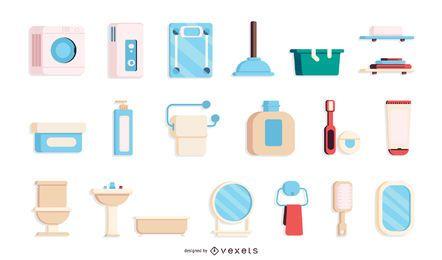 Colección de elementos de baño