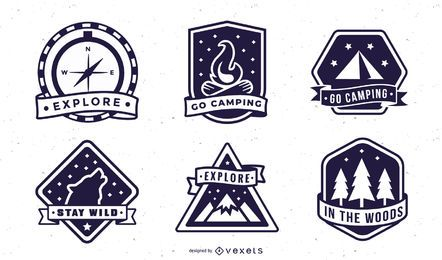 Camping badges pack