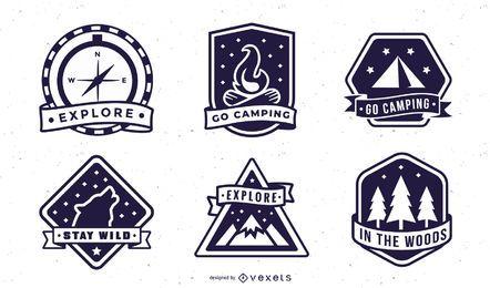 Pack de insignias de camping