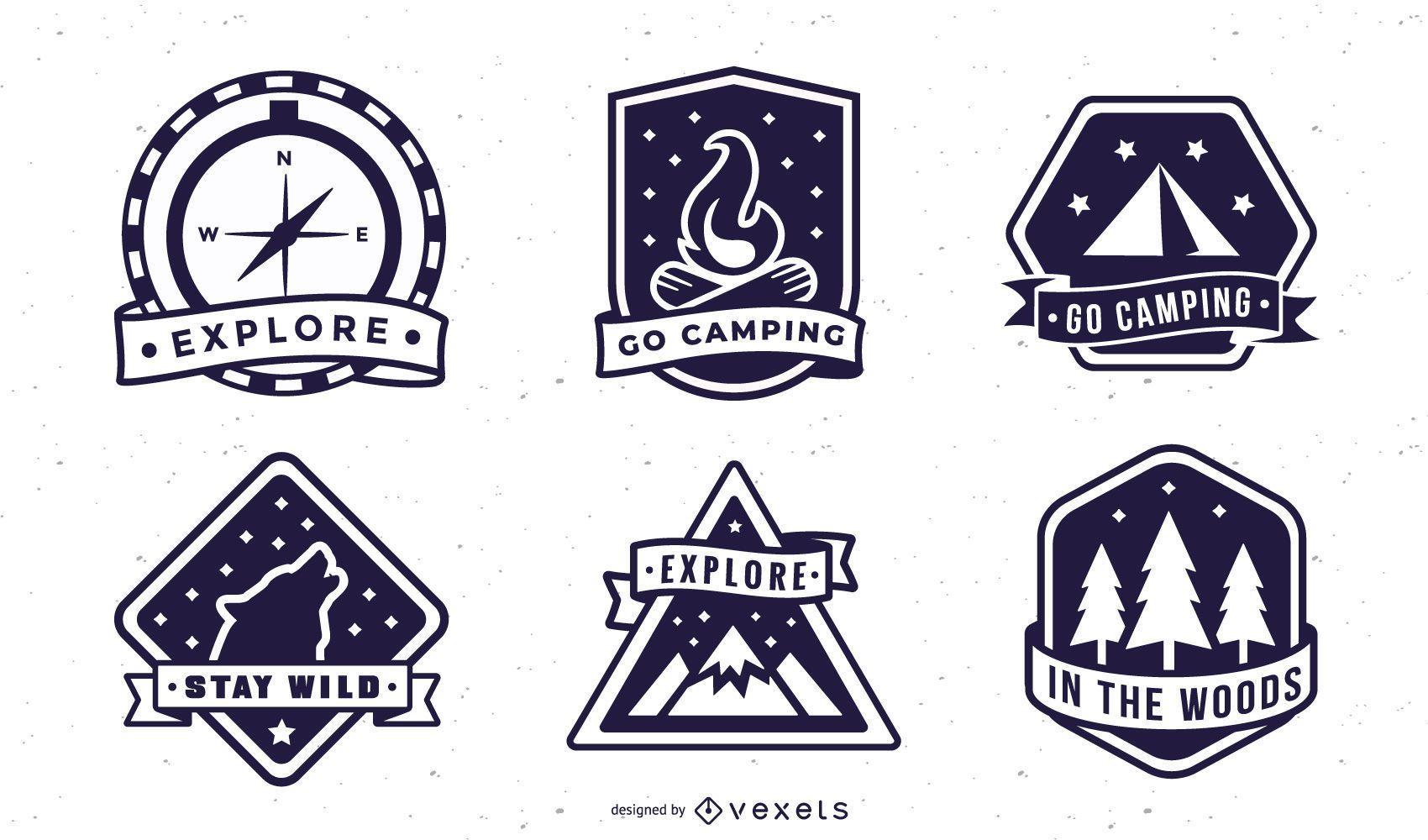 Pacote de emblemas de acampamento