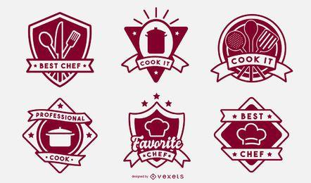 Conjunto de distintivo de cozinha