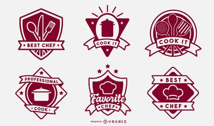 Cooking badge set