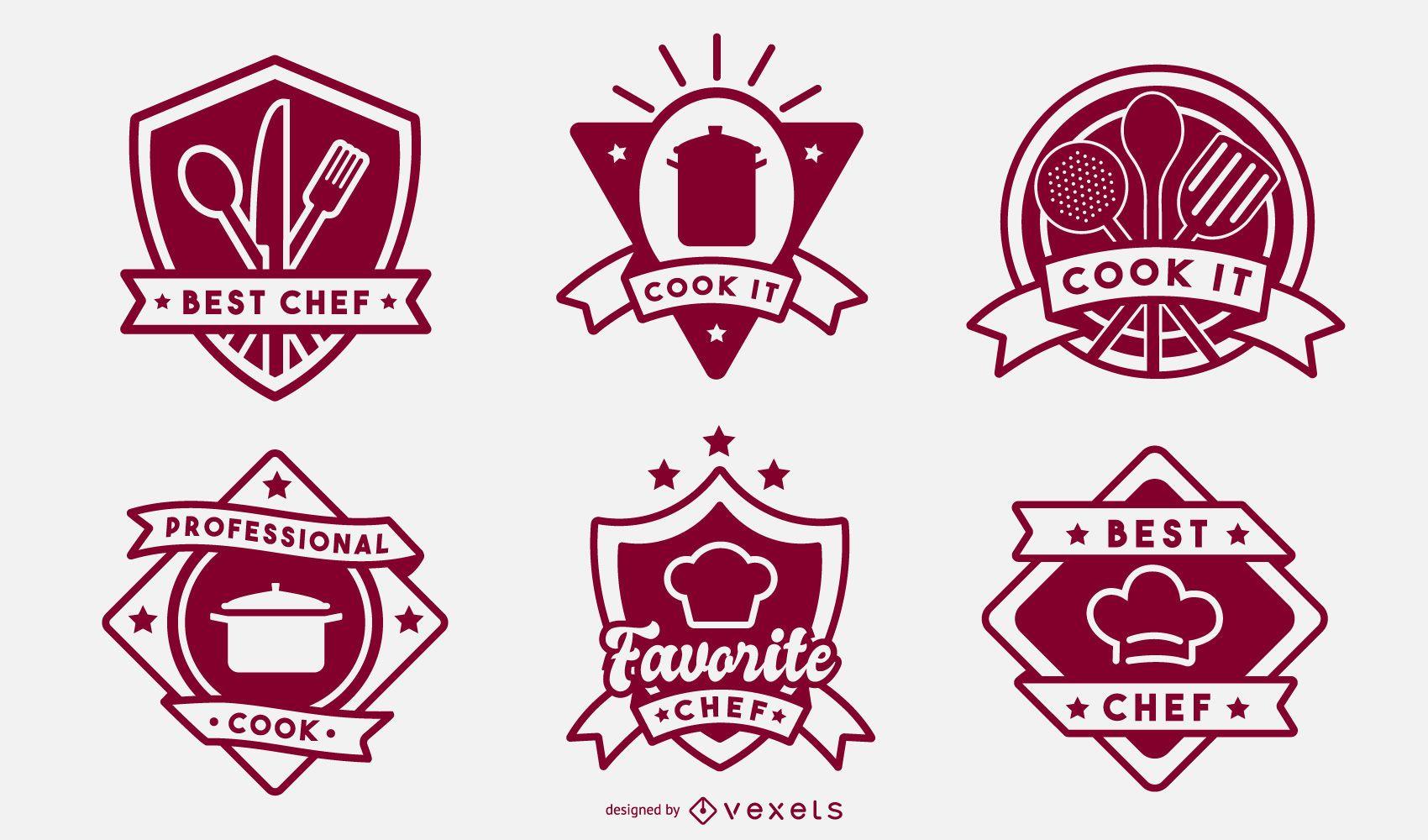 Cooking badge set