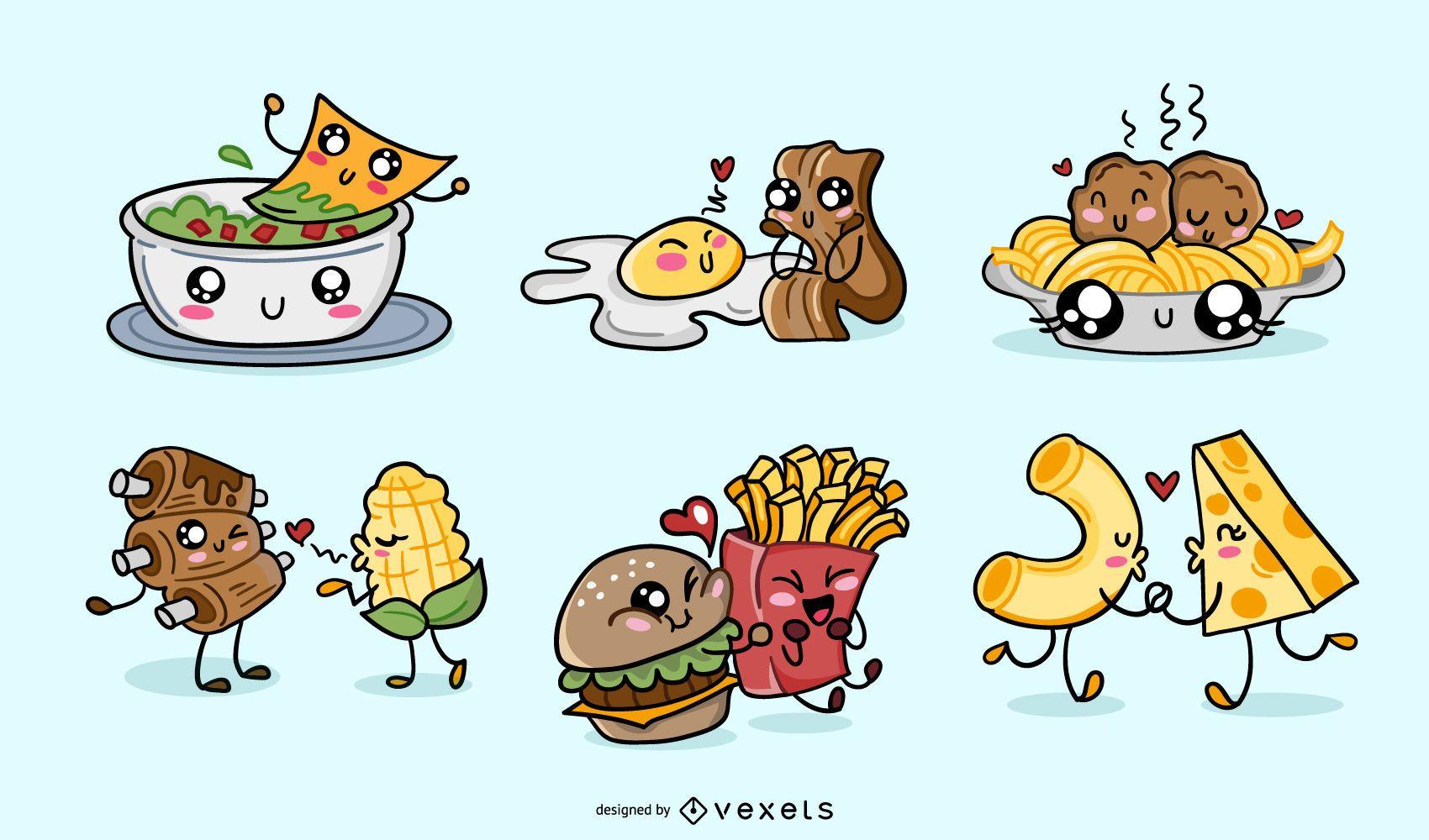 Valentines kawaii food pack